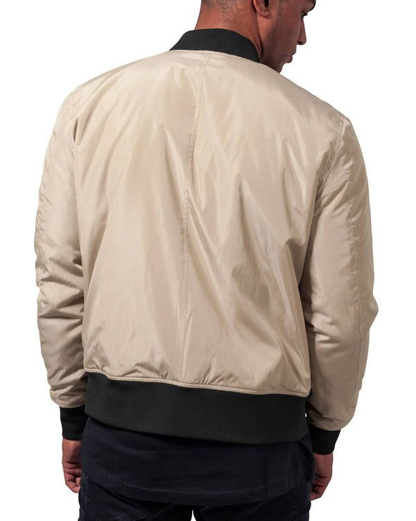 Bombers Gold beige bicolore tendance manches longues pour Homme