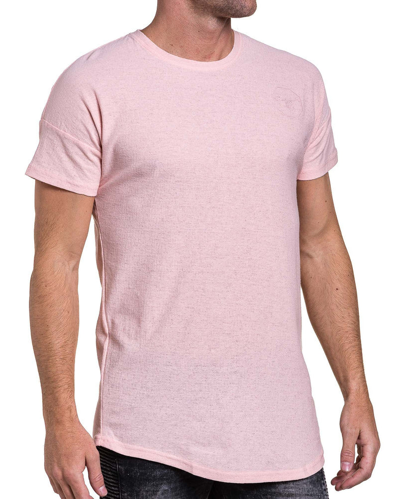 T-shirt homme rose oversize fine maille