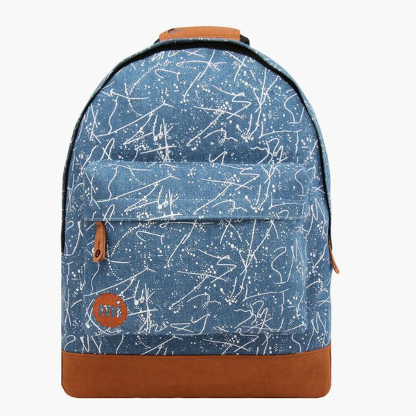 Denim Squiggle Backpack