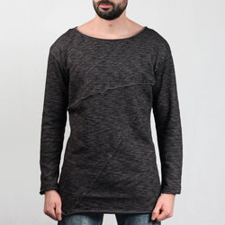 Fashion Long Terry Crew Tee