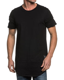 Tee-shirt homme noir oversize bandes relief