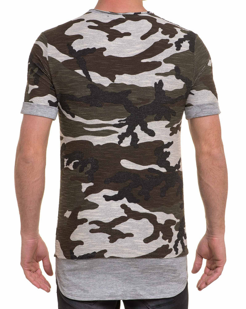 Tee-shirt maille street camouflage oversize