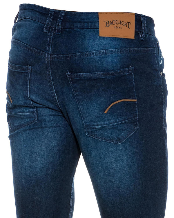 Jeans homme bleu tendance WILTORD coupe straight