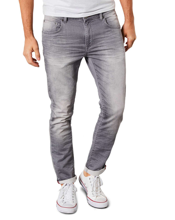 Jean jogging gris coupe slim pour homme petrol industries Jefferson