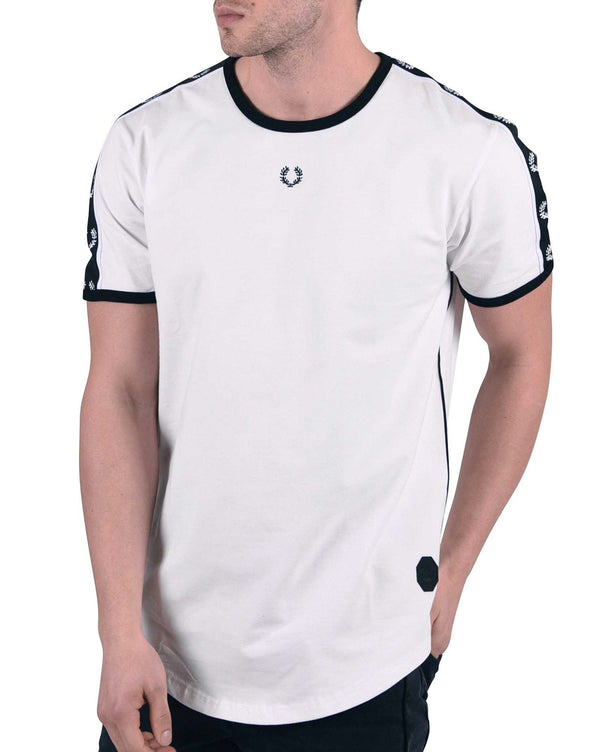 Tee shirt blanc laurier style rétro