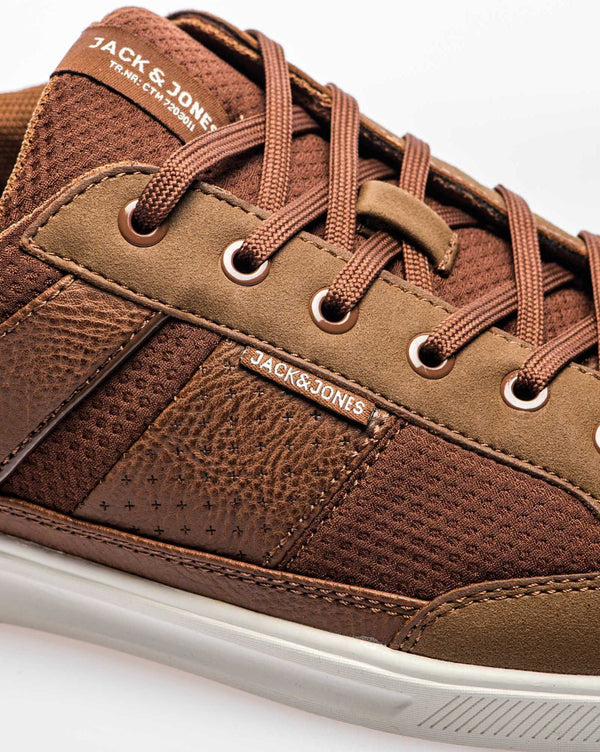Casual basket marron cognac homme