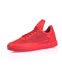 Sneaker basse homme rouge languette fashion