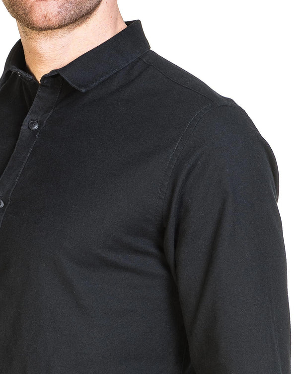Chemise homme noire oxford slim