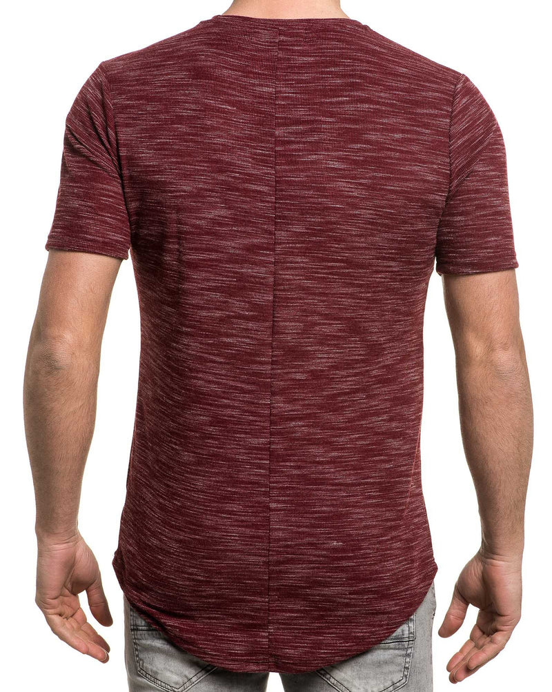 Tee-shirt oversize bordeaux