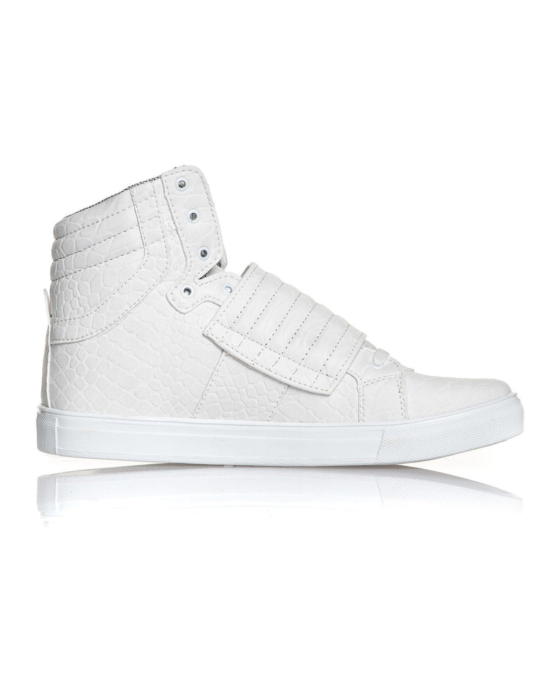 Basket homme scratch blanche montante fashion