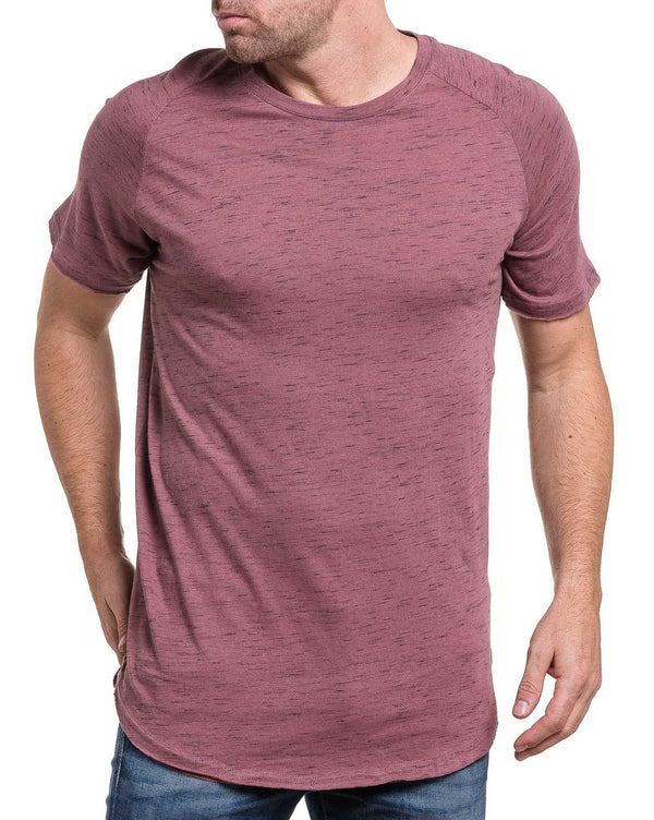 Tshirt homme rose taupe chiné oversize tendance