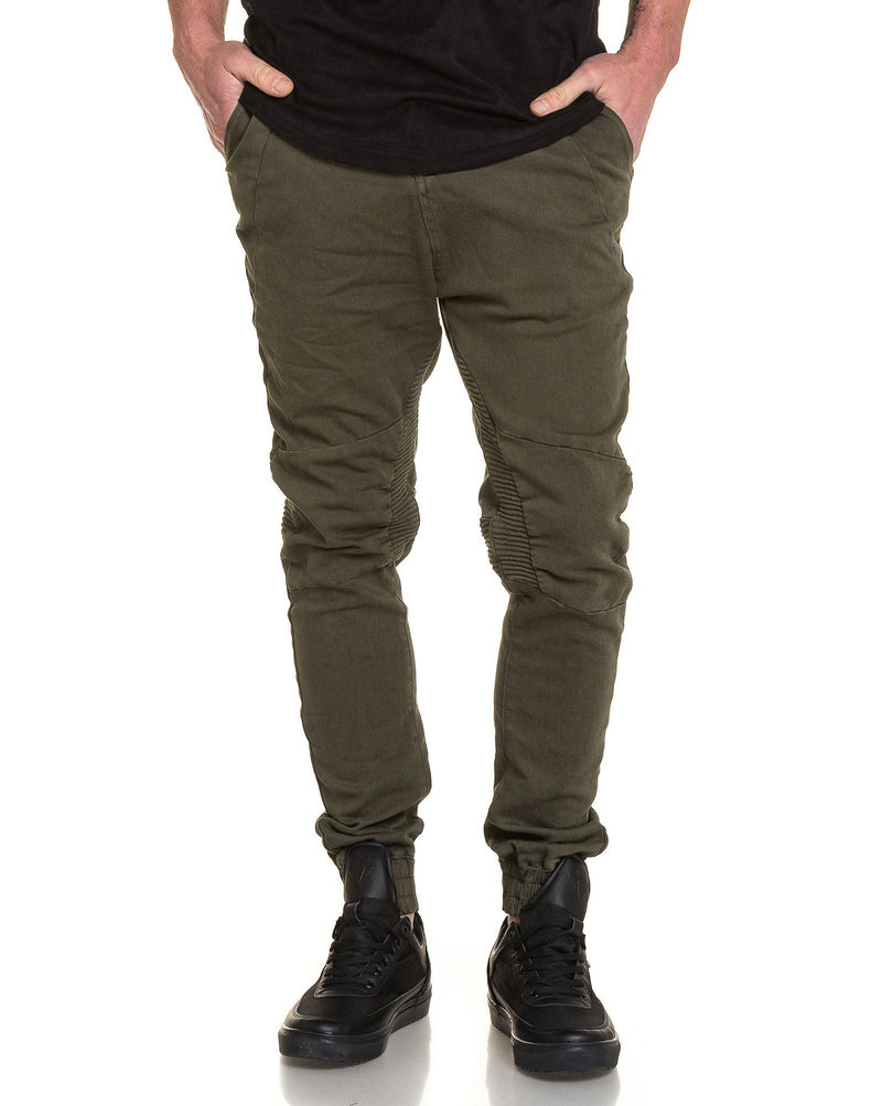 Jogger pant homme olive fashion