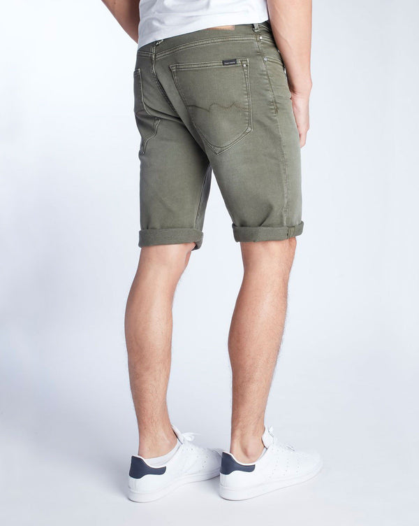 Short jogg jean beige SCOTTY de marque coupe régular fit