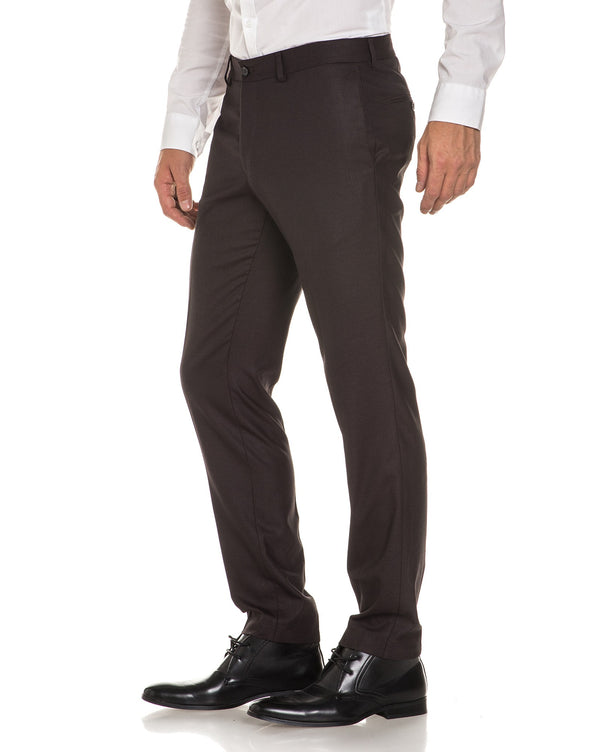 Pantalon costume homme marron
