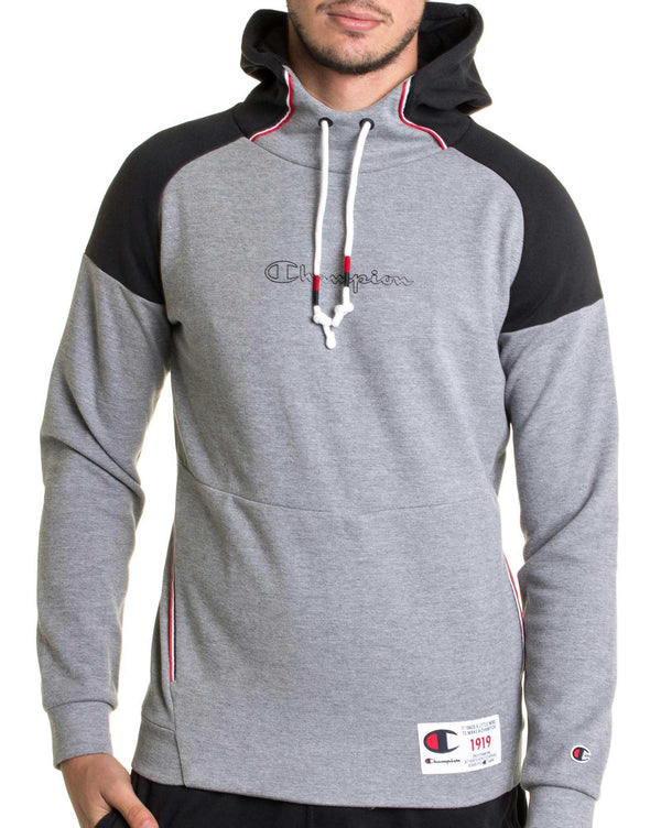 Sweat Shirt bicolor gris navy 212176 à capuche pour homme