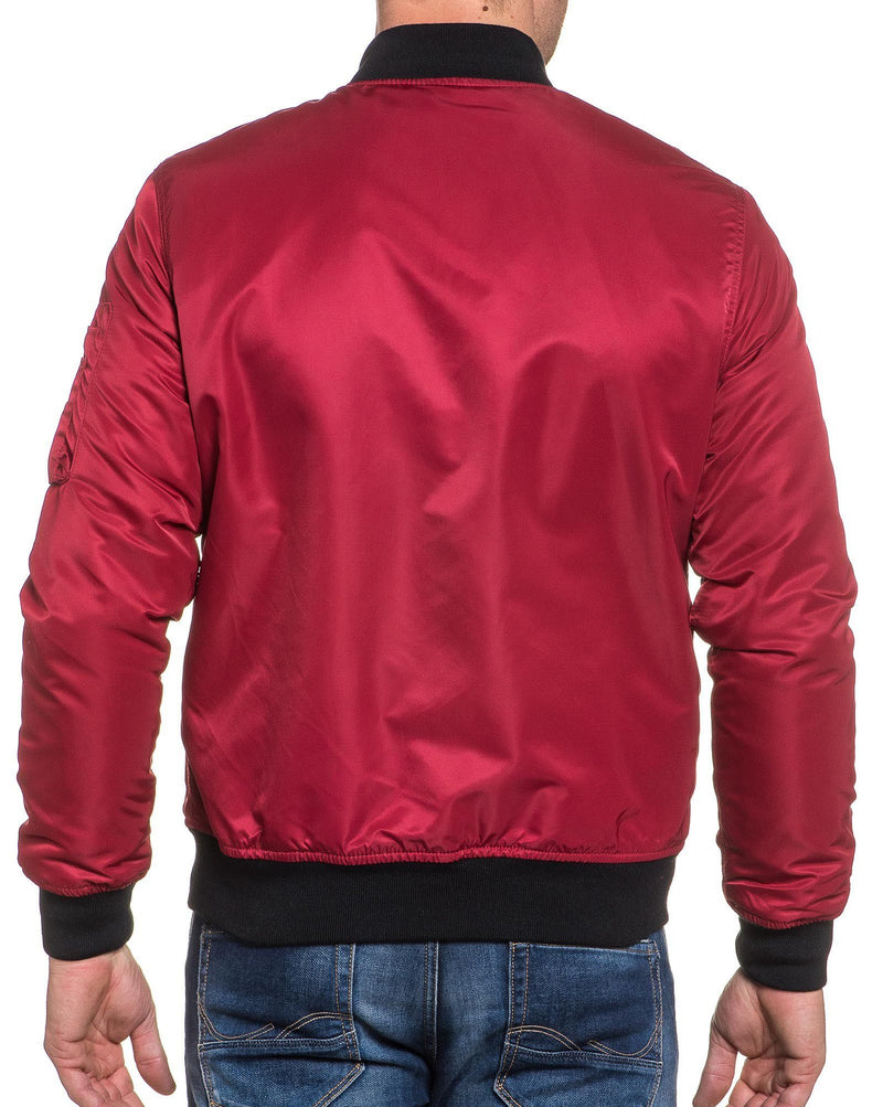 Bombers homme rouge zippé fashion
