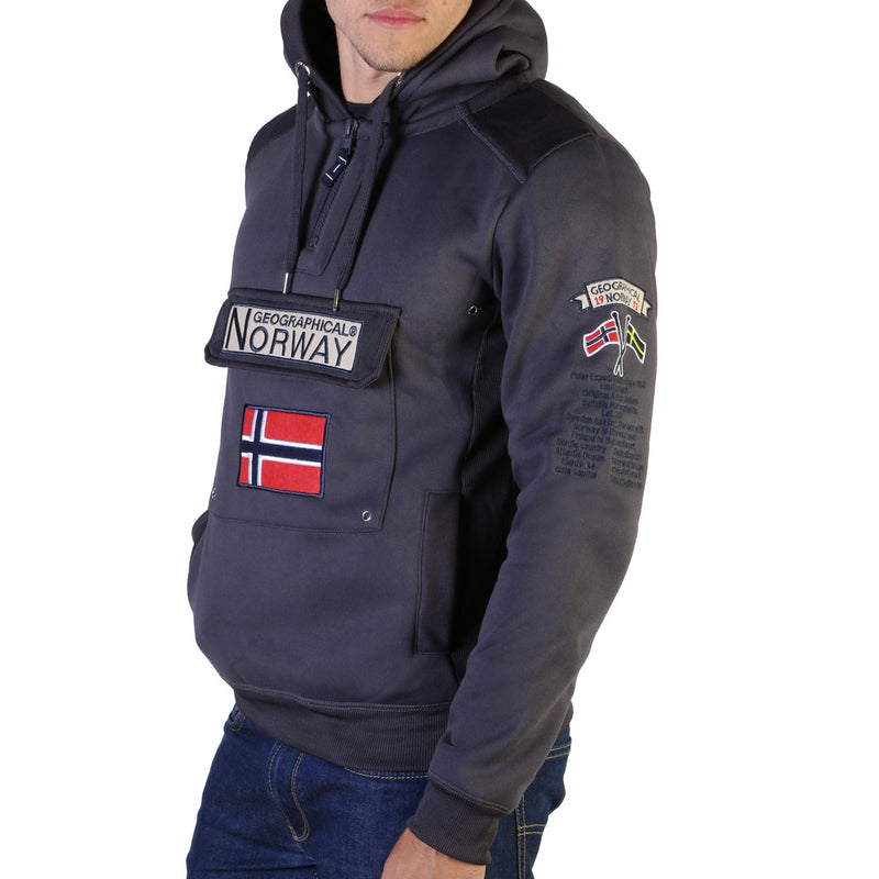 Sweat logo poche gris Geographical Norway - Gymclass007_man