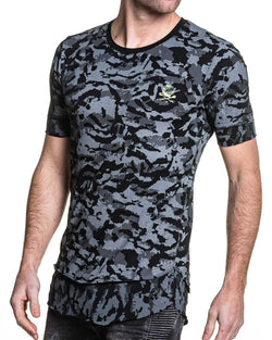Tshirt homme oversize camouflage noir