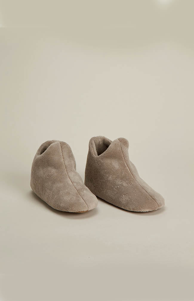 Basic Boot Slipper - Taupe