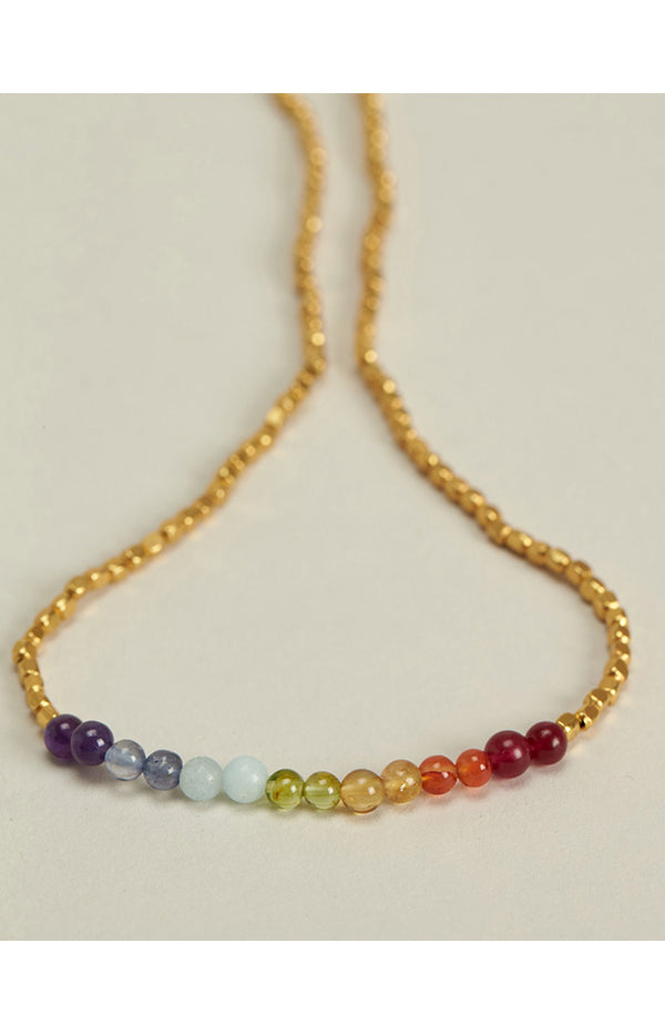 7 Chakras Necklace - Gold Plated