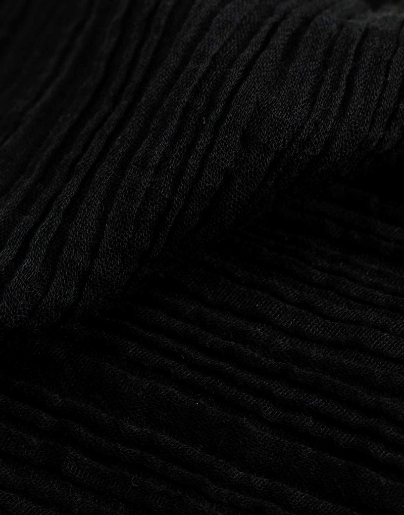 Soft Touch Smooth Scarf - Black