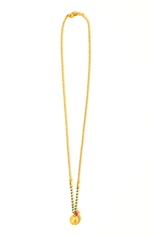 Medallion Chain Necklace - Gold Plated