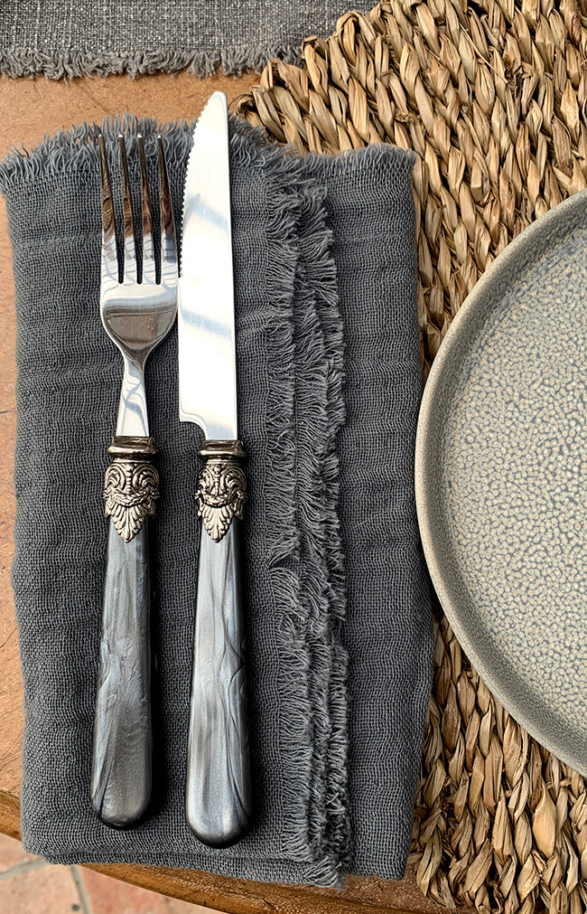 Linas Cutlery Set of 4 - Coal