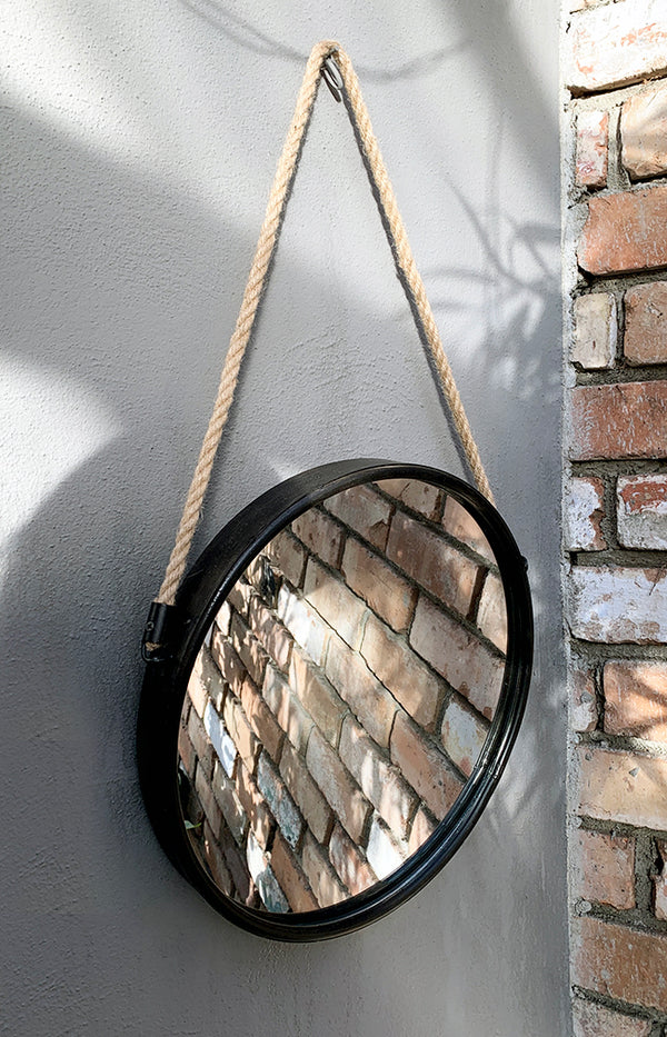Round Rope Hanging Mirror