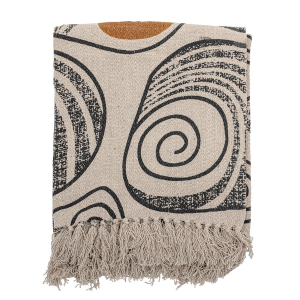 Recycled Cotton Throw - Blk/Natural