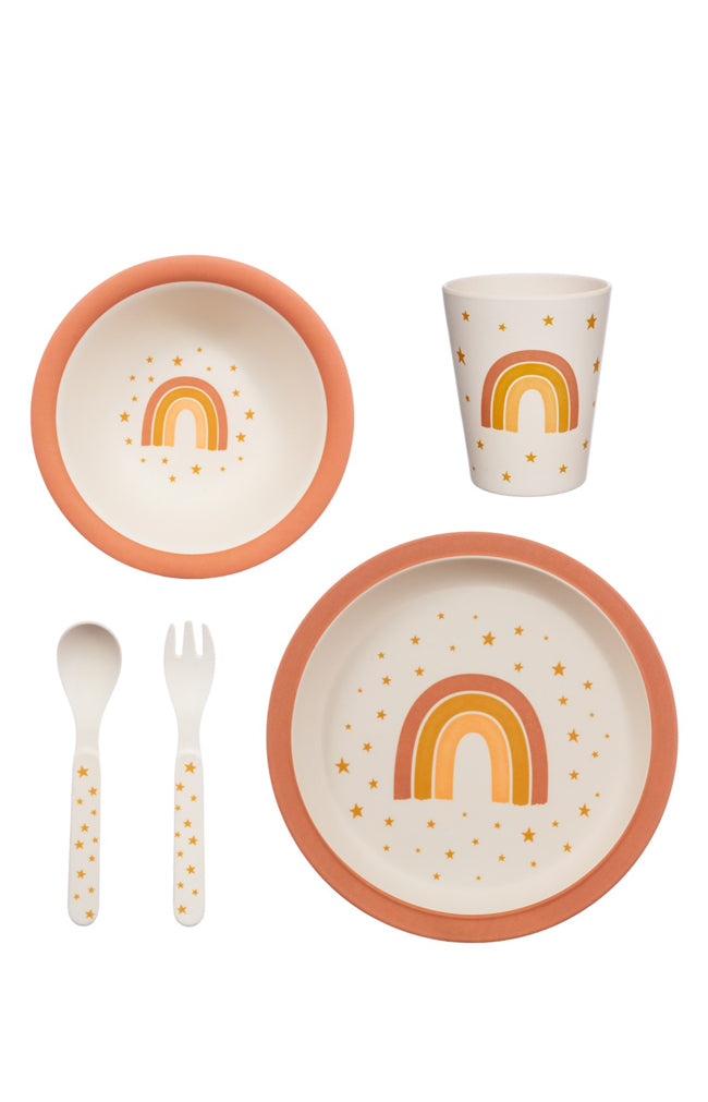 Earth Rainbow Bamboo Tableware Set