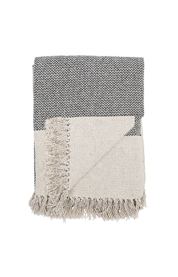 Recycled Cotton Throw - Grey