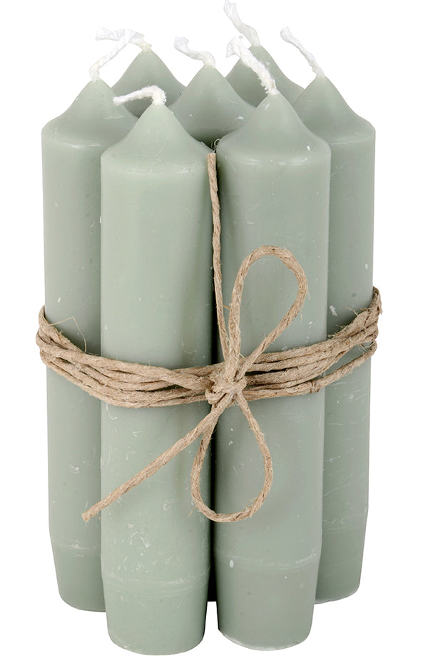 Short Dinner Candle (1) - Dusty Green