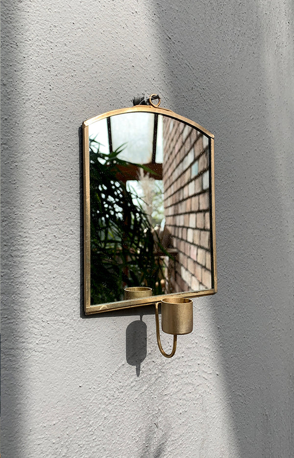 Wall Mirror W/ Candlestick