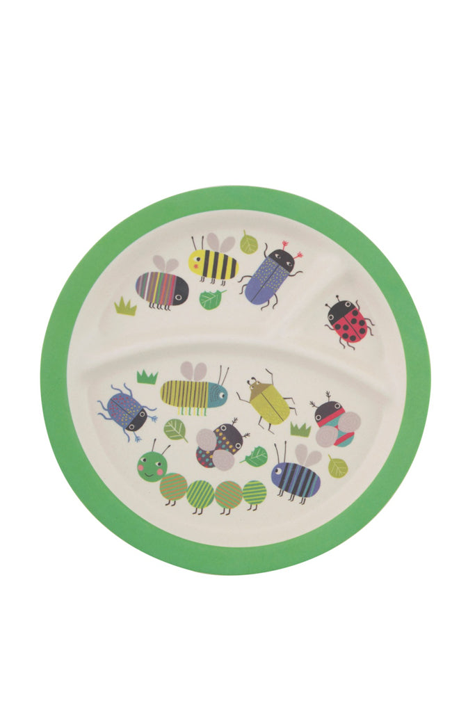 Busy Bugs Bamboo Kids Plate