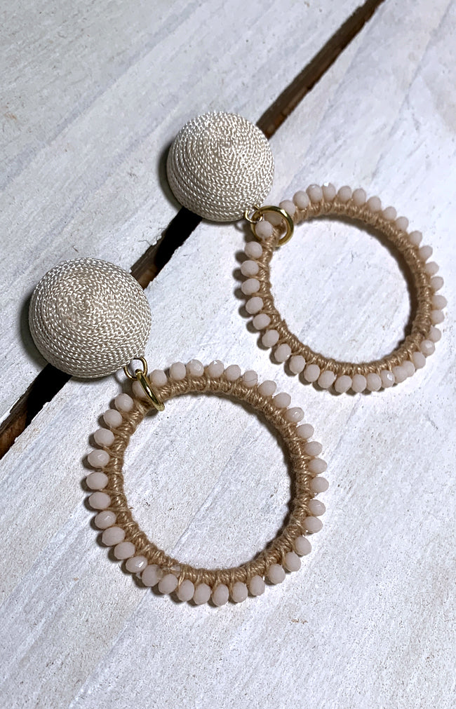 Kaya Earrings - Ivory