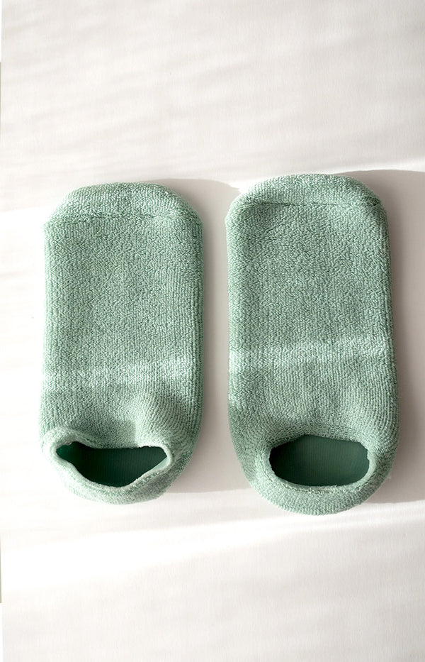 Gel Spa Socks - Green
