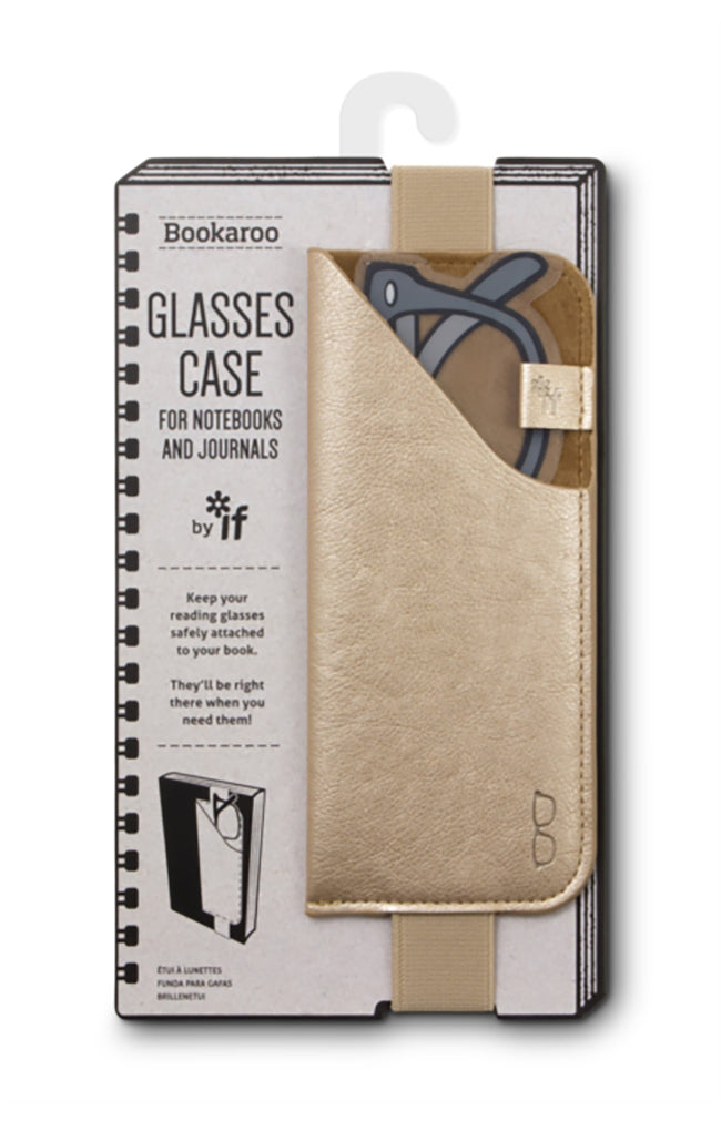 Bookaroo Glasses Case - Gold