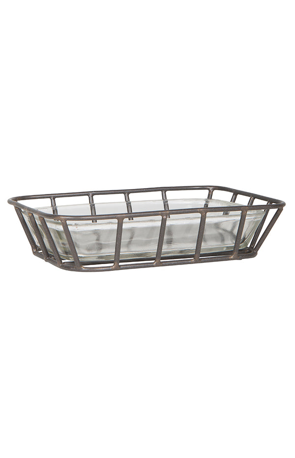 Metal & Glass Soapdish