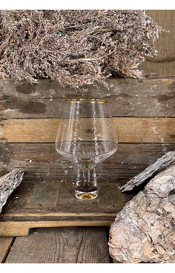 Gold Rim Gin Glass