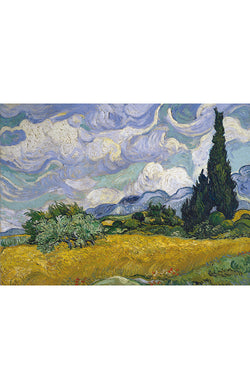 Van Gogh: Wheatfield with Cypress - 1000pc Jigsaw