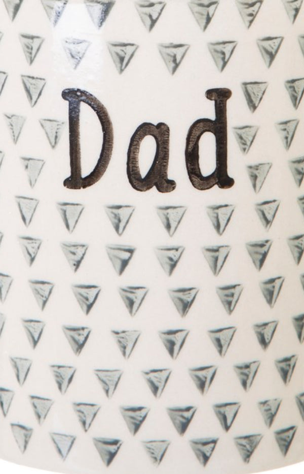 Dad Geometric Monochrome Mug