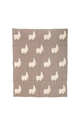 Lama Cotton Throw - Grey