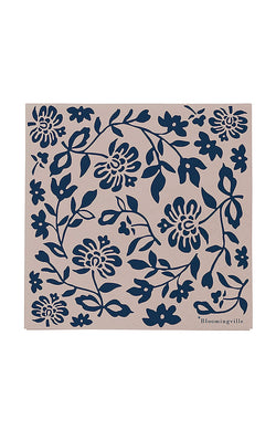 Printed Paper Napkin - Blue Flower