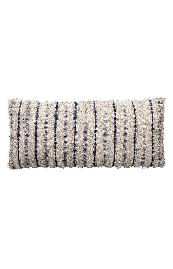 Cotton Cushion - Blue - L90cm/W40cm