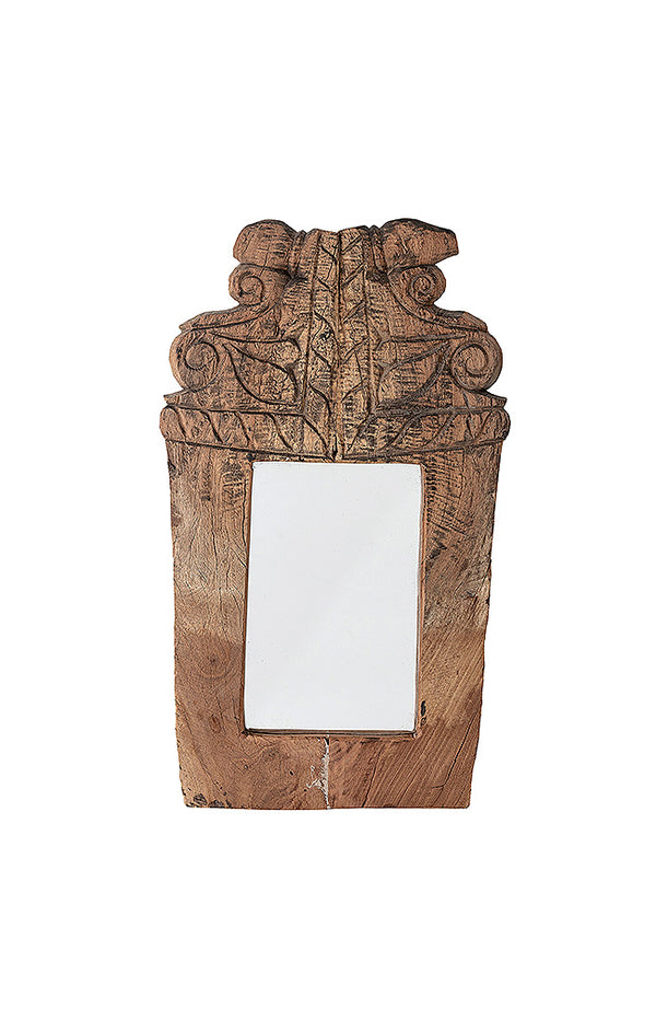Recycled Wood Mirror - L25/H44/W3 cm