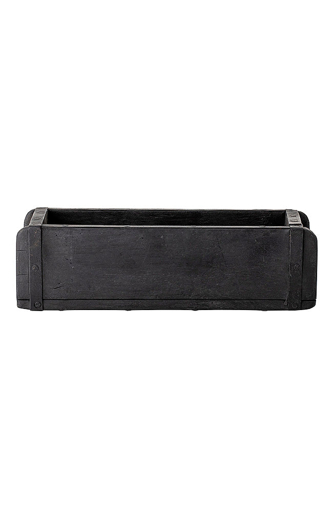 Recycled Wood Box - Black