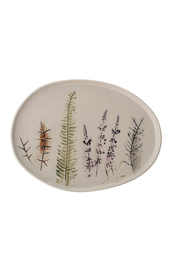 Bea - Handmade Stoneware Serving Plate - Nature