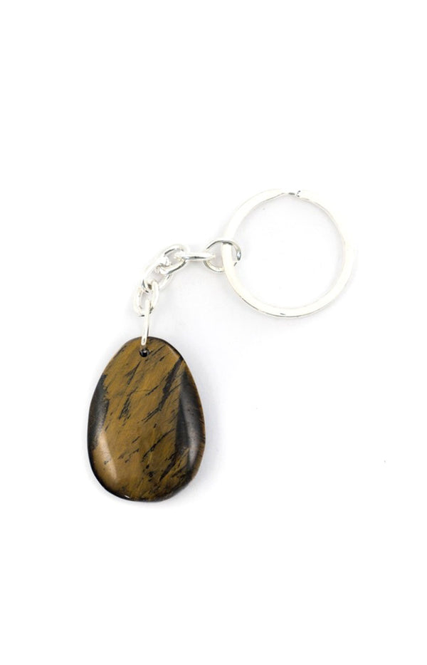Teardrop Keyring - Golden Tigers Eye