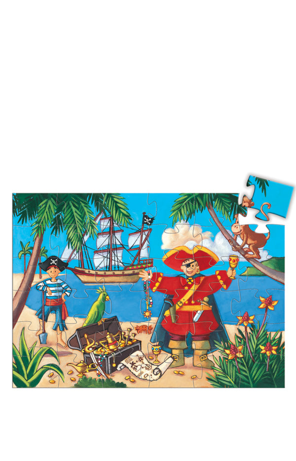 Silhouette puzzles - The Pirate and His Treasure - 36 pieces