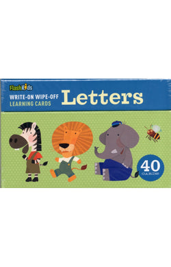 Write-On Wipe-Off Learning Cards - Letters